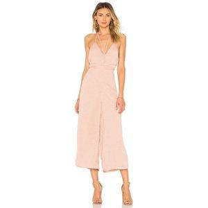 House of Harlow Paola Halter Fil Coupe Jumpsuit